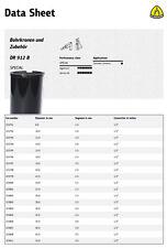 "Klingspor DR912B Diamond Core Drill Bit Hole Cutter 8mm Dia. 300mm L. 1/2"" BSP"