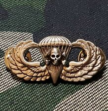 Skull Jump Wing Airborne Badge Parachutist Military Special Operations Pin Sjw10
