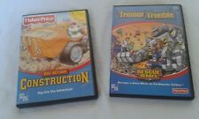 2 x Old PC CD-ROMs FISHER PRICE BIG ACTION CONSTRUCTION, TREMOR TROUBLE, age 4-7