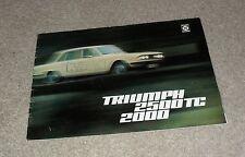Triumph 2000 & 2500 TC Saloon & Estate Brochure 1974-1975
