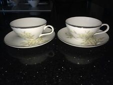 BARKER BROTHERS Japan Porcelain China 2 CUPS & 2 SAUCERS w/ Flowers 63-293P