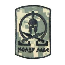 spartan molon labe ACU ECWCS embroidered army tactical morale hook patch