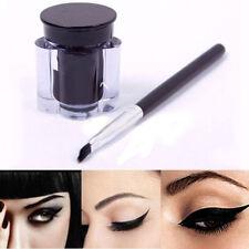 Black New Waterproof Eyeliner Women Eye Liner Gel Makeup Cream Cosmetic + Brush
