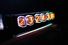 With Tubes & Case - IN-12 Nixie Tube Clock With Remote And Alarm 100% Assembled