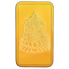 RSBL eCoins Lakshmiji 1 gm Gold Bar 24 kt purity 999 Fineness-WITH TAX INVOICE