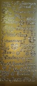 Peel Off Stickers - Birthday - Gold,Silver