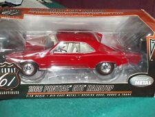 HIGHWAY 61 1966 PONTIAC GTO HARDTOP RED 1/18