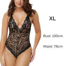 Plus-size Women Lingerie Lace G-string Dress Babydoll Sleepwear Underwear XL