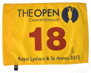 2012 BRITISH OPEN Winner - ERNIE ELS - Signed GOLF FLAG