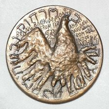 """Medaille Bronze aus ISRAEL """" Bring back my sons from far """""""