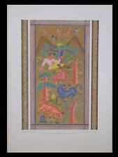 ANNIE TIERNEY, HOMME ET ANIMAUX -1924- LITHOGRAPHIE DOREE, ART DECO
