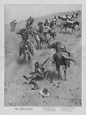 FREDERIC REMINGTON THE SMUGGLERS CHIHUAHUA TO SANORA MAZATLAN BURRO HORSE LAW