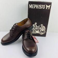 Mephisto Marlon Oxford in Chestnut Pebble Grain Leather - size 10.5