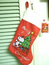 "Peanuts Musical Stocking Snoopy & Christmas Tree Plays ""Lucy & Linus"""