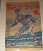 1960 Vintage BOSTON RED SOX score card program vs Kansas City Athletics+ Plastic
