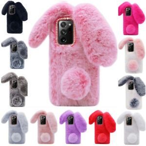 For Alcatel Soft Phone Case Cute Bunny Rabbit Fur Plush Fuzzy Fluffy Girly Cover