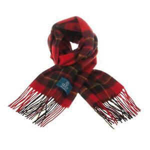 Scottish 100 % Lambswool Tartan Clan Scarf Brodie Red Brand New Made In Scotland