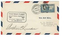 First flight cover, first night flight, Chicago AMF, 1929, Roessler envelope