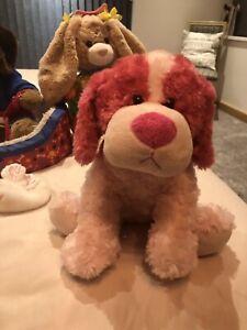 Genuine Build a Bear Pink Plush Toy Dog