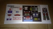 A Transformers complete premium quality sticker/decal sheet for G1 Grimlock