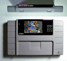 MegaMan and Bass on Super Nintendo - Reproduction Cart - Rockman and Forte SNES