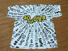 XL - Vtg 90s Forty 40 All Over Print Single Stitch Tultex T-shirt