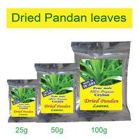 Organic Pure Air Dried Pandan Leaf Quality Ceylon Spices FreeShipping