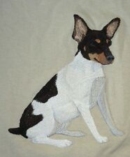 Embroidered Ladies Short-Sleeved T-Shirt - Toy Fox Terrier C5084