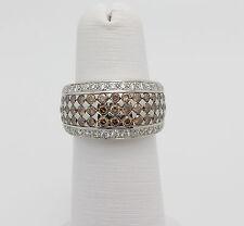 LeVian 1.58CT Chocolate Diamonds Pave Ring 14K White Gold (vanilla Gold)