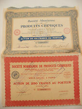 ( LOT DE 2  DIFFERENTS.)  PRODUITS CHIMIQUE.