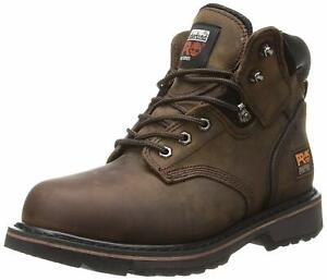 Timberland Mens Pit Boss Leather Steel toe Lace Up Safety Shoes, Brown, Size  XG