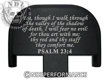Rear Slide Plate for Smith Wesson S&W SD9 SD40 VE 9mm 40BK Bible Psalm 23:4