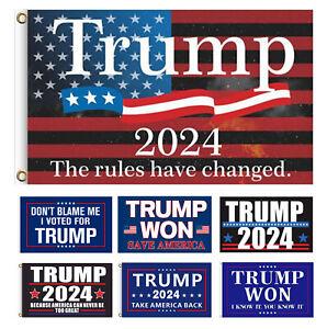Trump 2024 Flag Take Save America Back Trump Won Garden Flag 3x5Ft Best Quality