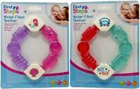 Baby Rattle Teether Water Filled Bright Coloured Cold Soothing Teething Toy x 1