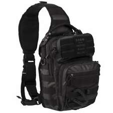 Mil-Tec Tactical Black One Strap EDC Gear Assault Sling Pack Rucksack Small 10L