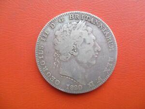 1820 crown - LX - George III - sterling silver (ref HR-CR-3)