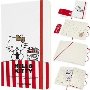 Moleskine Limited Edition Hello Kitty Large Plain Hardcover Notebook - White