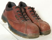 Dr. Doc Martens Industrial ST Brown Leather Low Work Boot UK 10 Men's US 11