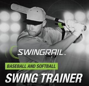 SWINGRAIL Baseball Softball Hitting Aid - Swing Training - Batting Trainer