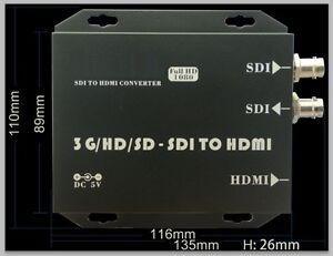 Professional 3G-SDI to HDMI Converter Adapter 3G-SDI HD-SDI SD-SDI 1080p60