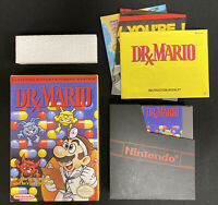 Nintendo NES Video Game Dr. Mario COMPLETE W/Minty Box, Game, Inserts & Manual