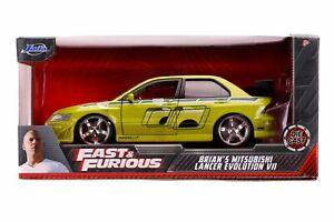 Fast & Furious - Brian's 2002 Mitsubishi Lancer Evolution VII 1:24 Scale Hollywo