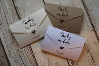 Personalised Wedding Favour Lottery/Scratchcard holders Love letters