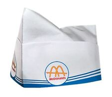 VINTAGE STYLE MCDONALDS SODA HAT CAPS AUTHENTIC PRODUCTION ONE-SIZE 100-PACK!