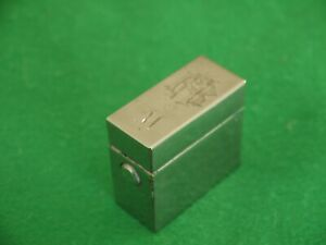 NEAT ANTIQUE SILVER PLATED TRAVELLING TRAVEL PORTABLE INKWELL CASE