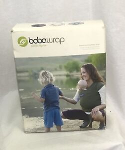 Boba Wrap Ring Sling Baby Carrier Pouch Women Men Black Preemie-18mth New in Box