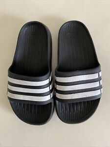 Toddler Boy Girl Unisex ADIDAS Black White Sandals Shoes Size 11
