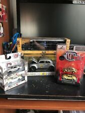2017 M2 Machines (lot of 5) CHASE 1:24 Beetle, Hauler, Auto-Lift, Japan Skylines