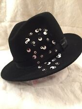 "New RENEGADE ""THE BAILEY SHOW - TRUDY"" 100% Wool Hat Fedora Black Medium"