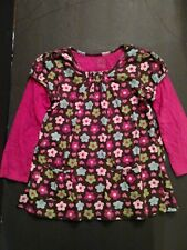 Carter's Girls Pink and Brown Floral Shirt Size-4
